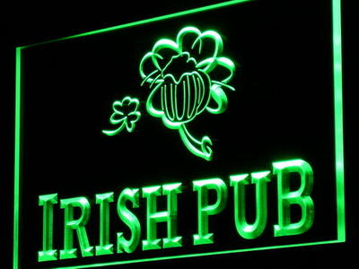 i969 Irish Pub Bar Club Display Home Decor Light Sign On/Off Swtich 20+ Colors 5 Sizes