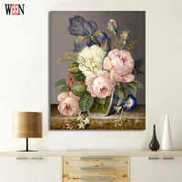 WEEN Digital Elegant Flower Painting by Numbers DIY Wall Oil Painting Coloring Cuadros Decoracion Pictures Acrylic Canvas Art
