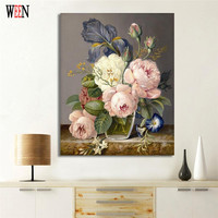 WEEN Digital Elegant Flower Painting By Numbers DIY Wall Oil Painting Coloring Cuadros Decoracion Pictures Acrylic