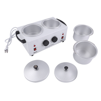 Double Pot Wax Heater Electric Hair Removal Tool Wax Machine Hands Feet Paraffin Wax Therapy Depilatory Salon Beauty Tool