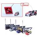Alta Velocidade de 1/64 Coca-cola Pode Mini Carro Rc Velocidade do Carro Rádio Modelo do Veículo de Controle remoto Micro Corrida Meninos Apuramento Brinquedos Carro Pequeno