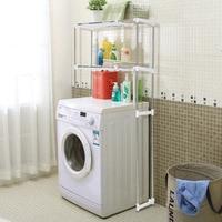 iKayaa US UK FR Stock Kitchen Organizer Space Saver Over Toilet Width Extendable Bath Cabinet Storage Shelf Furniture