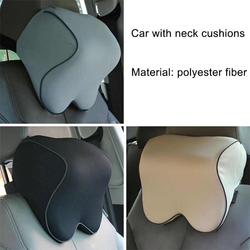 1Pcs Soft Fabric Memory Foam Removable Cleaning Car Neck Headrest Lumbar Support Suit For Bmw Mercedes