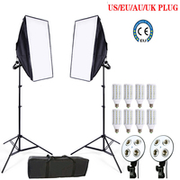 Ship From Russian Photo Stuido Soft Box Set Light Photography Flash Softbox Reflector Material Lamp Holder