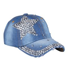 Win new fashion children baseball cap rhinestone star pink blue black fuchsia color kids boys girls hiphop brand snapback caps hats offer