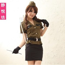 Cosplay Women's Dress Uniform Temptation Exotic Apparel Police Uniform Airline Hostess Airhostess Costume