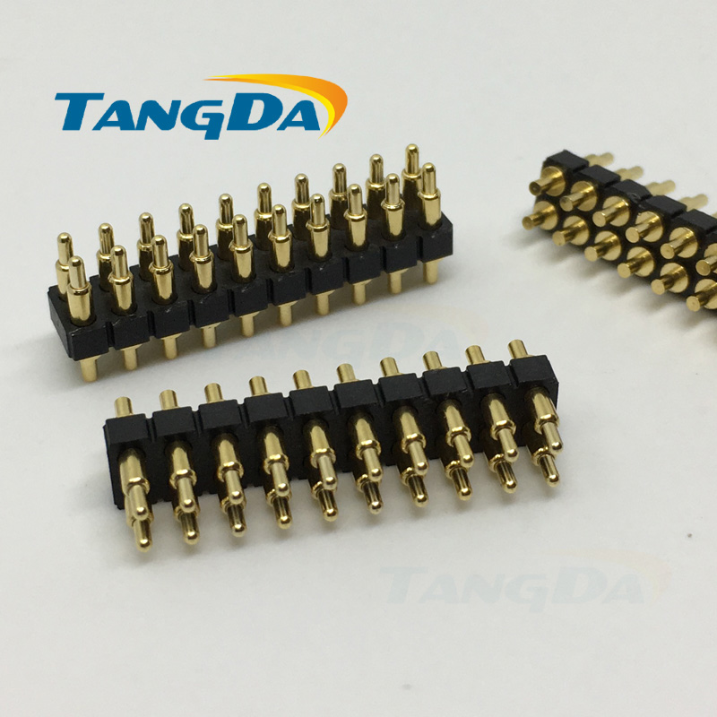 DIP 2*9mm pogo pin Connectors 20p 20pin Current pin Battery pin Test thimble probe Gold Plated spring probe Through Hole A.