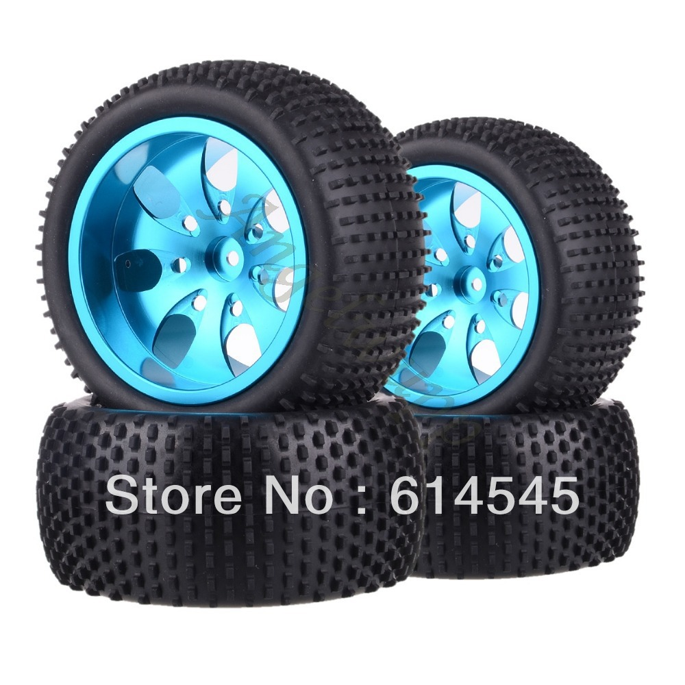 4xRC Monster Truck Bigfoot Metal 1:10 Wheel Rim & Tyre Tires 12MM HEX 88121 4pcs lot 2 2 rubber tires tyre plastic wheel rim 12mm hex for redcat exceed hpi hsp rc 1 10th off road monster truck bigfoot