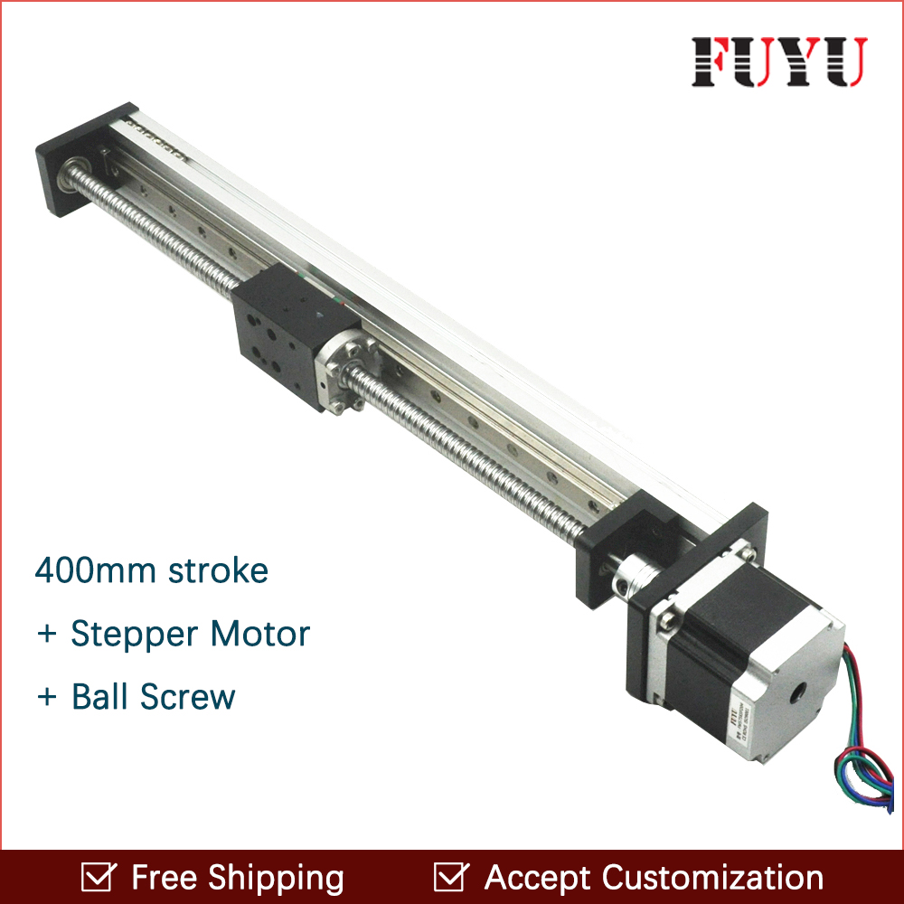 Free shipping cheaper 400mm travel length linear guide for cnc