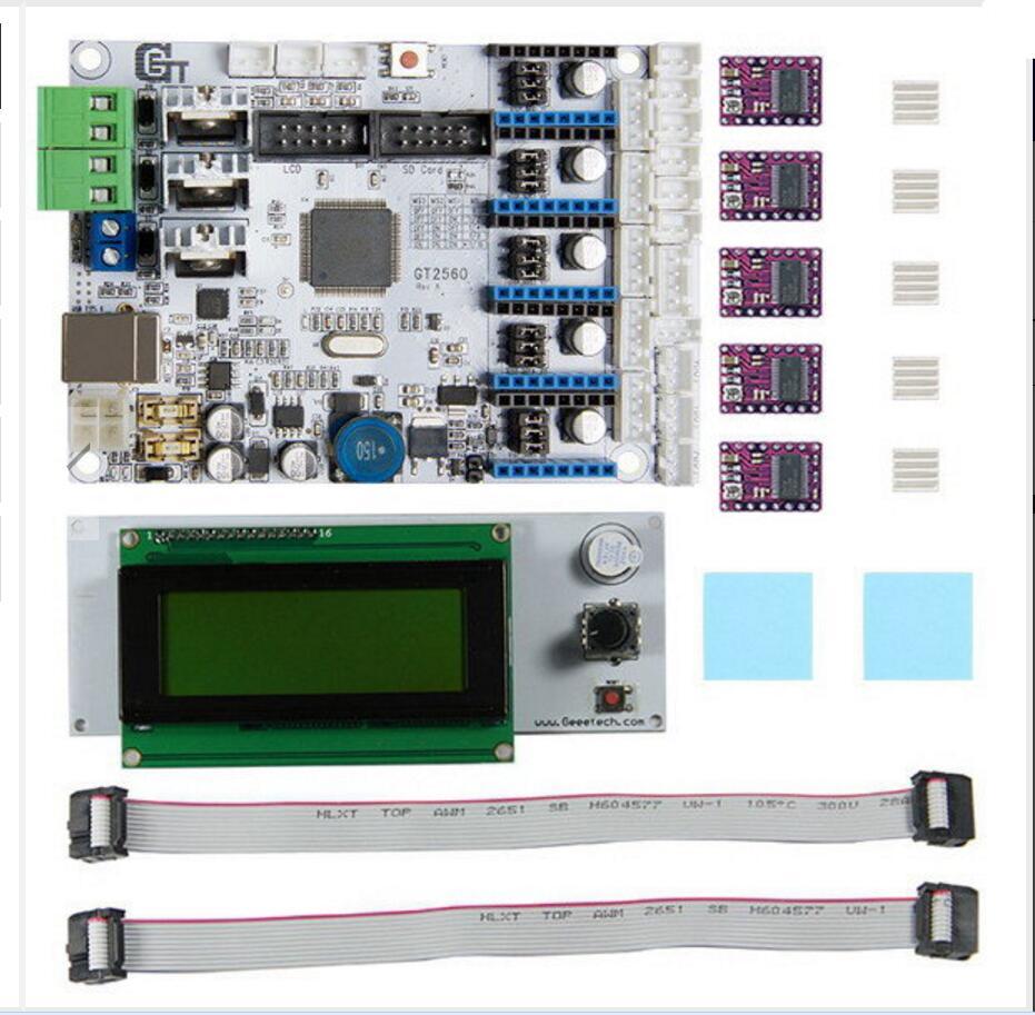 DuoWeiSi 3D Printer Parts 3D Printer Motherboard GT2560 + DRV8825 Driver + LCD2004 Kit duoweisi 3d printer parts cubieboard3 a20 dual core development board cubietruck kit