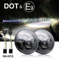 CO LIGHT 50W H4 Led Headlight 7 CREE Chip 30w High Low Beam 6000k Cars Running