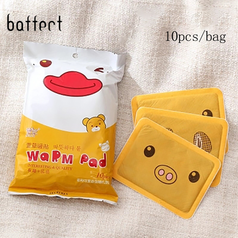 10pcs/Pack Cartoon Heating Pad Foot Warmer Body Warmer Sticker Warm Paste Pads Lasting Heat Pack Winter Body Warm Christmas Gift