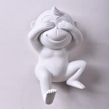 Duvar Sevimli Maymun Kanca Ev Ev Dekor Moda Hayvan Kanca takı kıyafet sergi rafları Kanca duvar askısı