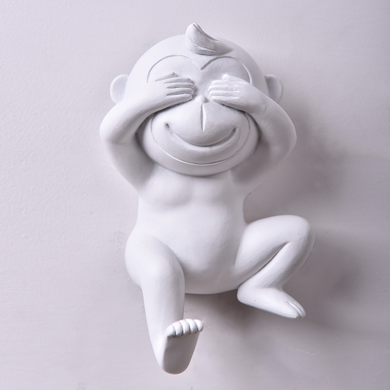 Wall Cute Monkey Hooks Household Home Decor Trendy Animal Hooks Jewelry Clothing Display Racks Hook Wall Hanger