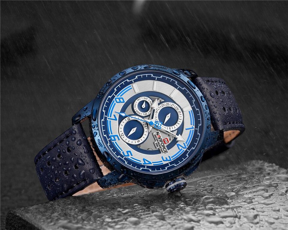 NAVIFORCE 9142 Genuine Leather Watch 7