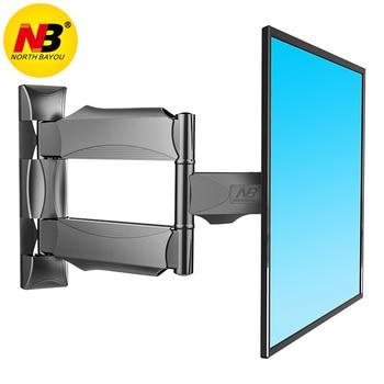 "NB P4 הציע עבור גודל 32 ""-55"" שטוח LED LCD הטלוויזיה קיר הר מלא תנועה 3 זרועות נדנדה צג מחזיק מסגרת"