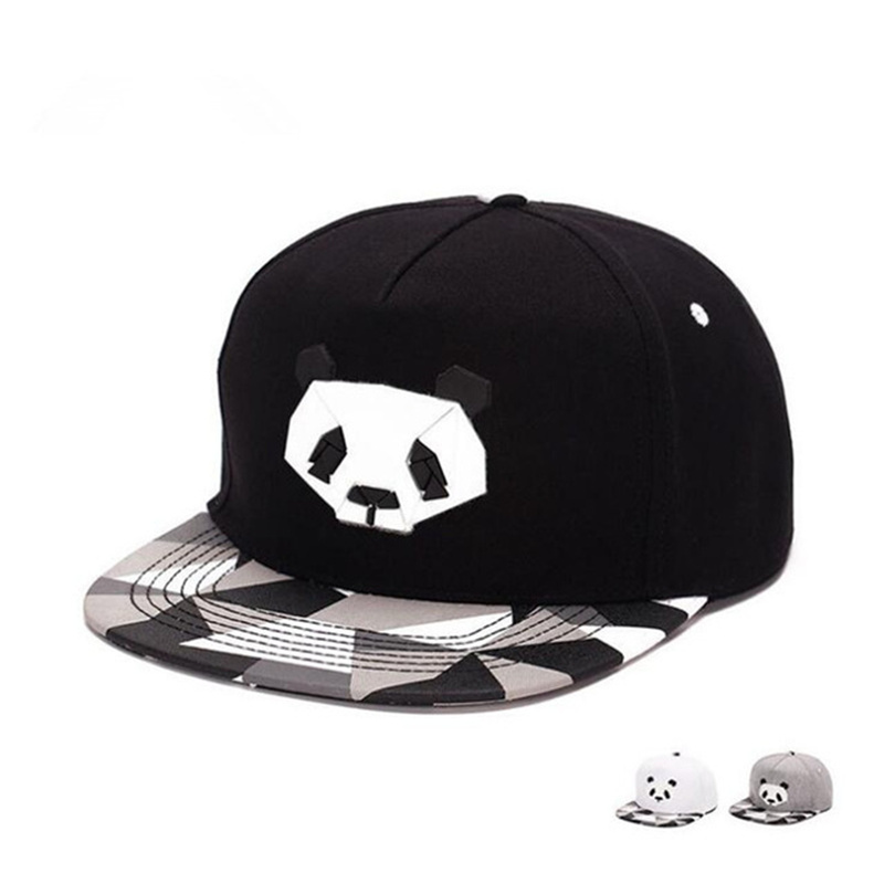 Fashionspring And Summer Lovers Baseball Cap Hip-hop Hat Male Ms. Cute Panda Zebra Rubber Hatsnapback Flat-brimmed Hat