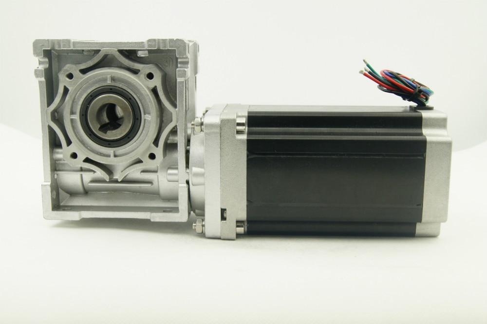 NEMA34 Worm Gearbox Ratio 5:1/10:1/20:1/25:1/40:1/50:1/60:1/80:1 Worm reducer Stepper Motor 156mm Motor Length with output shaft
