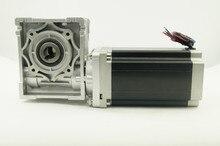 4-приводят NEMA 34 Рамка 86 мм червь Шестерни соотношение 1:5 червь Шестерни Шаговый двигатель с 12N. м Двигатель Длина 156 мм с выходной вал
