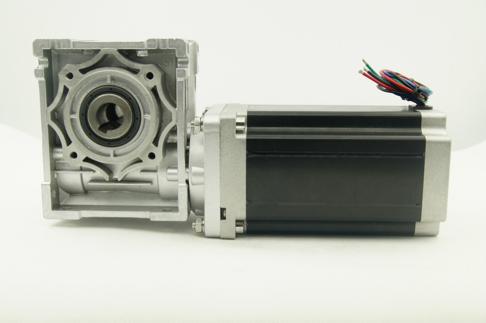 цена на NEMA34 Worm Gearbox Ratio 5:1/10:1/20:1/25:1/40:1/50:1/60:1/80:1 Worm reducer Stepper Motor 156mm Motor Length with output shaft