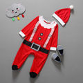 2016 Christmas gift baby boys and girls long-sleeved cotton group of children clothing + hat two-piece