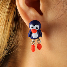 CXW Free shipping Fashion animal earrings for women classic fashion penguin accessories cute ear studs K04