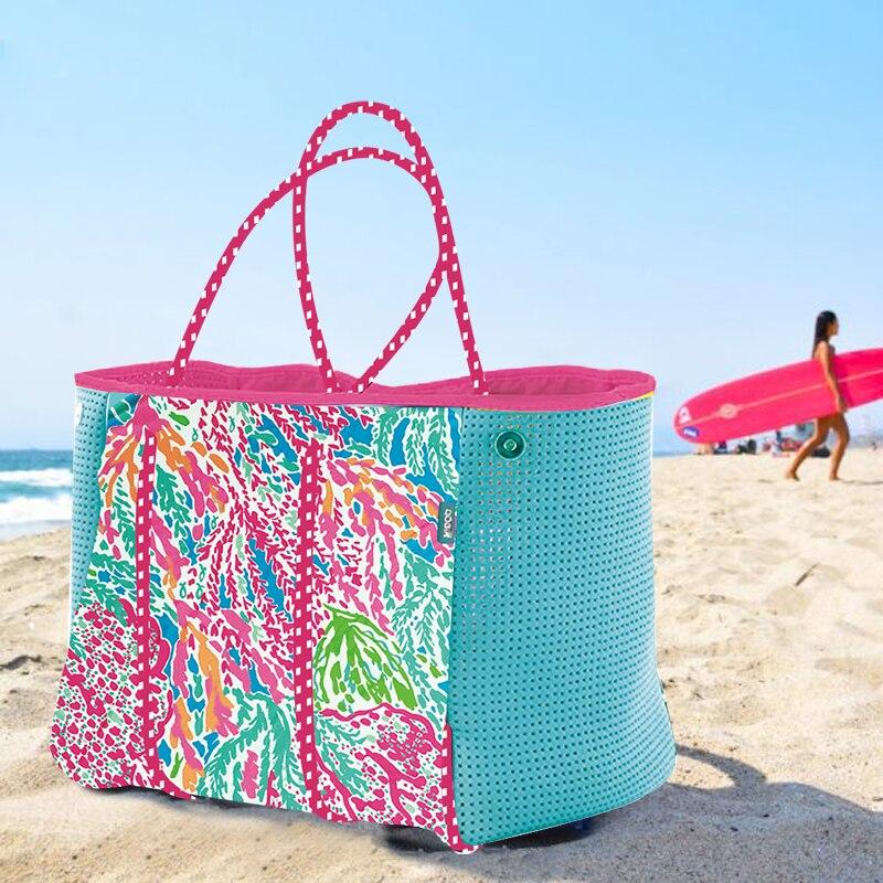 2019 femmes sac de plage impression sac à main en néoprène mode trapèze fourre-tout Messenger sacs femmes sac à bandoulière designer sac de yoga