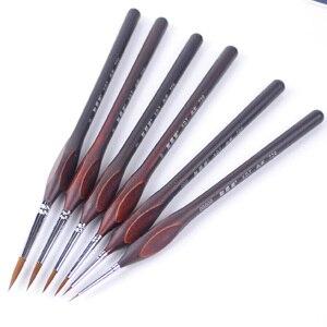 Image 5 - Ручка с крючками для рисования акварелью, профессиональная кисть для рисования гуашью, маслом, принадлежности для творчества, 6 шт.