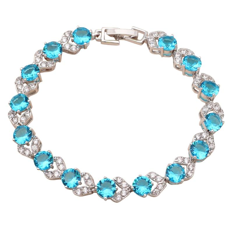 Wonderful white Gold tone Light blue charm bracelets for ...