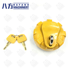 R55/60/150/210/215/225-7-9 Anti-theft excavator parts for Diesel Fuel Tank Cover Filter Screen digger parts fuel tank cap with 2 keys for excavator dh215 7 dh225 9 dh300