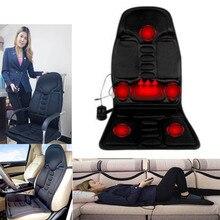 Silla de masaje eléctrica para el hogar, asiento vibrador para espalda, cuello, cojín masajeador, almohadilla de calor para pierna, cintura, masajeador corporal