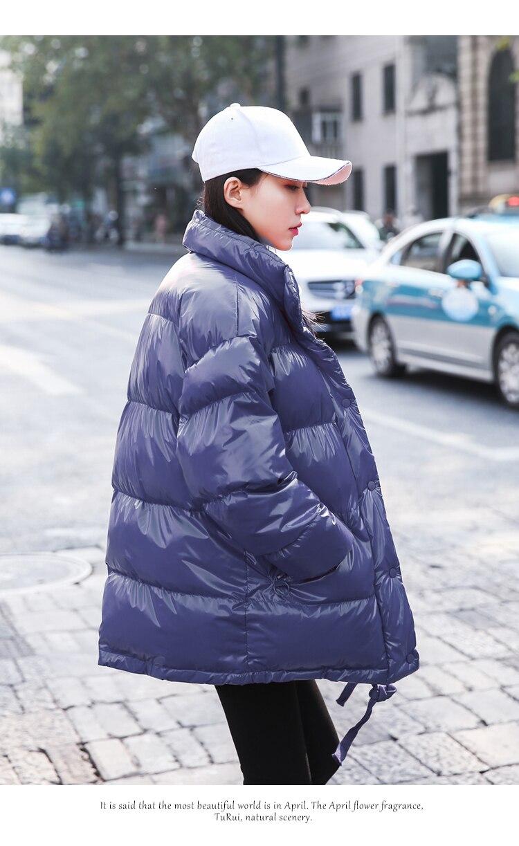 Parka Bleu Manteaux Rouge Pain 2018 Femme Lumineux Coton Femmes Service Montant Étudiant D'hiver Veste Vêtements marine Lâche Nouvelle Col Hiver ZnaHq