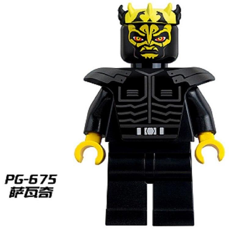 50Pcs PG675 Super Heroes Movie Star Wars Savage Opress 7957 With Lightsaber Luke Skywalker Building Blocks Bricks For Kids Toys