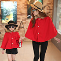 mother and daughter cloak Coats Thickening Plus hair Family Matching Outfits clothes  Wool Outerwear