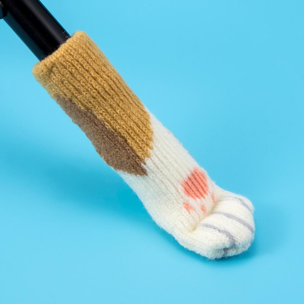 Ihrtrade,Household,Cat Socks Chair Protectors,Cat Paw Chair Socks,Cat Chair Socks,Knitted Chair Socks Pattern,Cat Paw Chair Socks Knitting Pattern