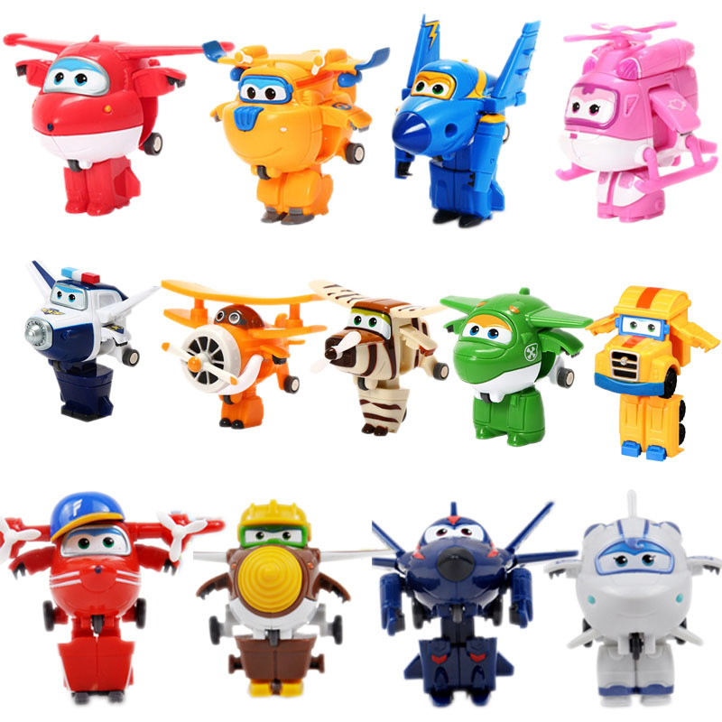 Action-Figures Robot Toys Transformation-Jet Airplane Kids Gifts Super-Wings Mini ABS