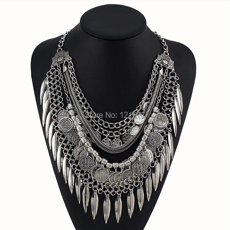 Women Gypsy Necklace Fashion Jewelry Bohemian Antiq