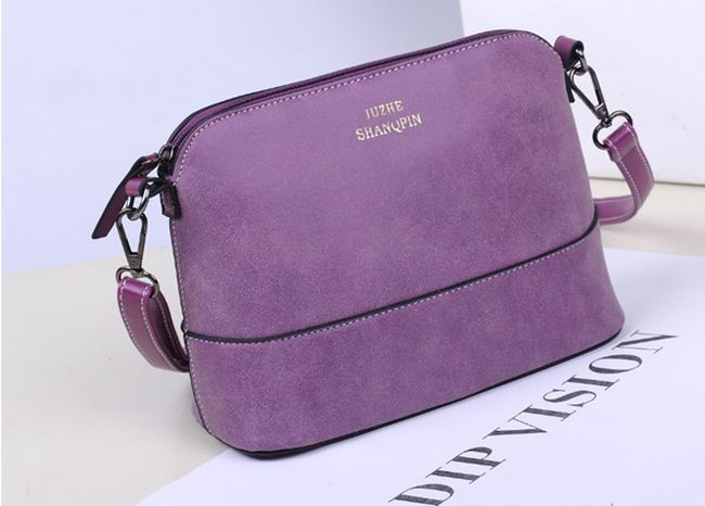 2017 Hot style women's handbag designer fashion vintage small shoulder messenger bag matte leather women shell bag