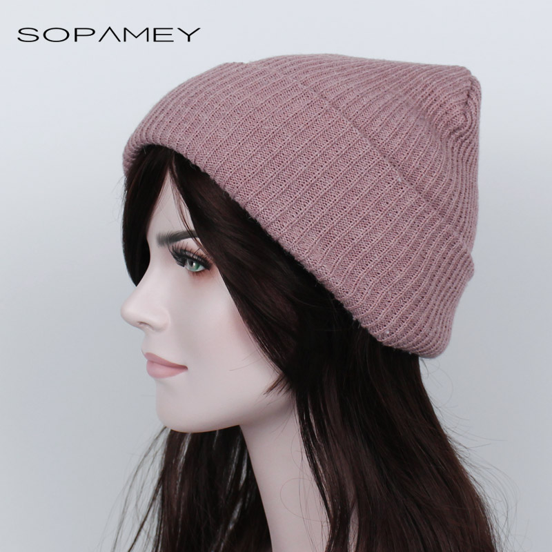 Winter Hats for Women Knitted Beanie Cap for Girls Wool Brand Hat Female and Male Couples Warm ears Hats Faux Rabbit hair 2017 new fashion autumn and winter wool leaves hollow out knitting hat thick female cap hats for girls women s hats female cap