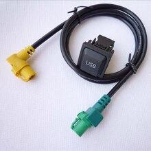 Interruptor de botón de audio radio del coche del usb kit adaptador para volkswagen vw con rcd510 rns510