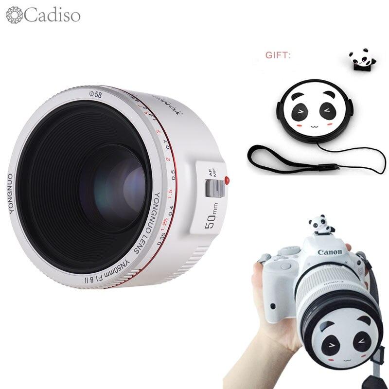 Cadiso YN50mm F1.8 II 0.35 M Distance de mise au point principale EF 50mm caméra à effet Bokeh caméra pour Canon EOS 70D 600D 5D2 5D3 DSLR