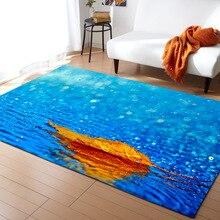 1PC Polyester Leaves Pattern Carpet for Living Room Kitchen Mat Bedroom Floor Door Decoration