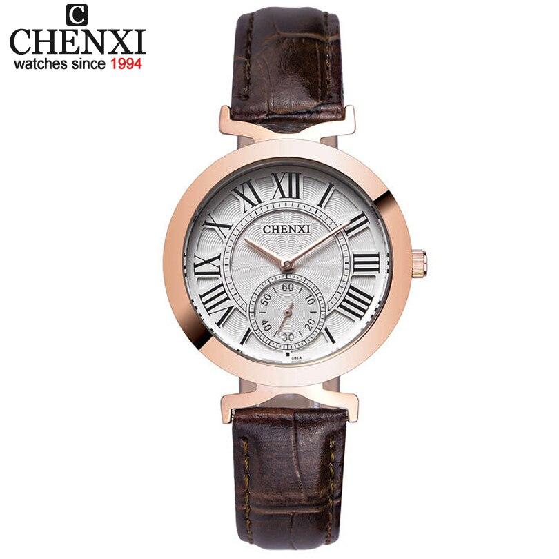 CHENXI Women's Watches Woman Quartz Dress Watch Ladies Leather Band Fashion Quartz-Watches Waterproof Clock Relogios Masculinos