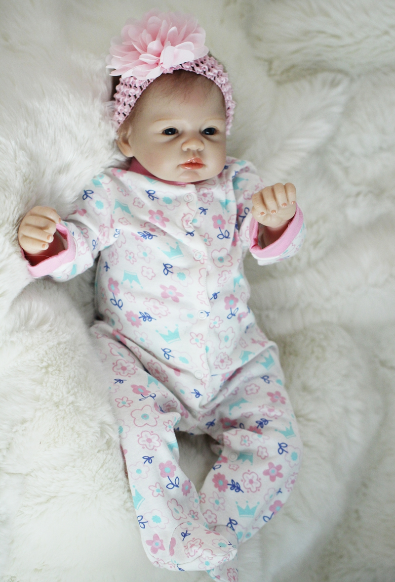 Realistic Newborn 22 55cm Handmade Lifelike Newborn Baby Doll Reborn Soft Silicone Vinyl Hair Rooted Gift