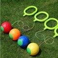 Pulando bola de brinquedo para As Crianças jogos de desporto Crianças brinquedo colorido bola quicando Malabarismo pé ao ar livre pular pular ginásio atividade de fitness