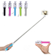 Hot Selling Universal Portable  Extendable Handheld  Wired Stretchable  Handheld Selfie Stick for phones handheld