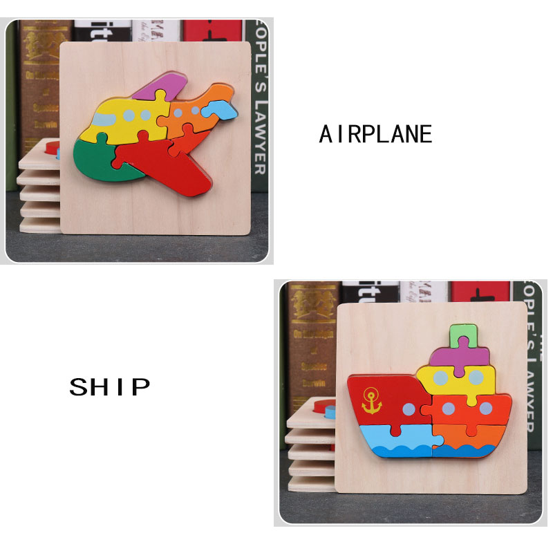 Puzzle Games Montessori Toys Learning Education 3d Wooden Puzzles Math Toys Jigsaw Maze Teaser Sensory Materials Kids Toy