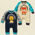 Winter new Korean star lion cotton jumpsuit baby Romper long sleeve clothes