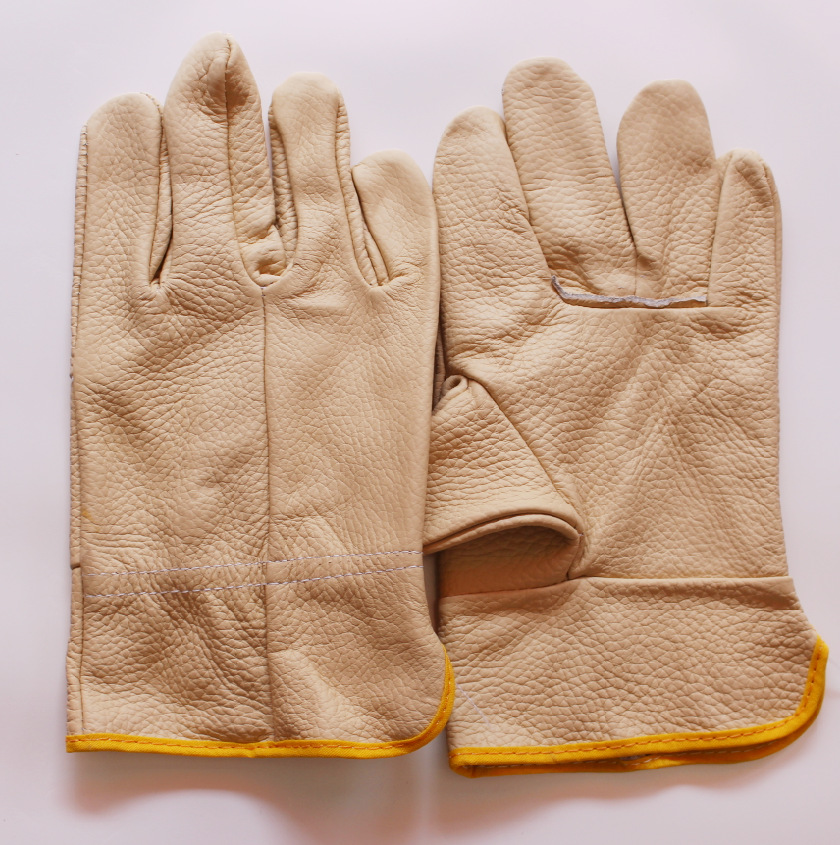 Drivers Gloves  Short Leather  Welding  Safety Gloves  Wholesale Welding Gloves