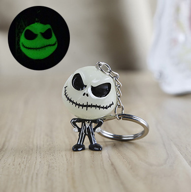 Wholesale 20pcs cute Halloween luminous skull pendant christmas toys phone straps charms gift keychain pendant free